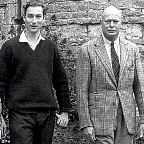 Son and father: William with the Duke of Gloucester