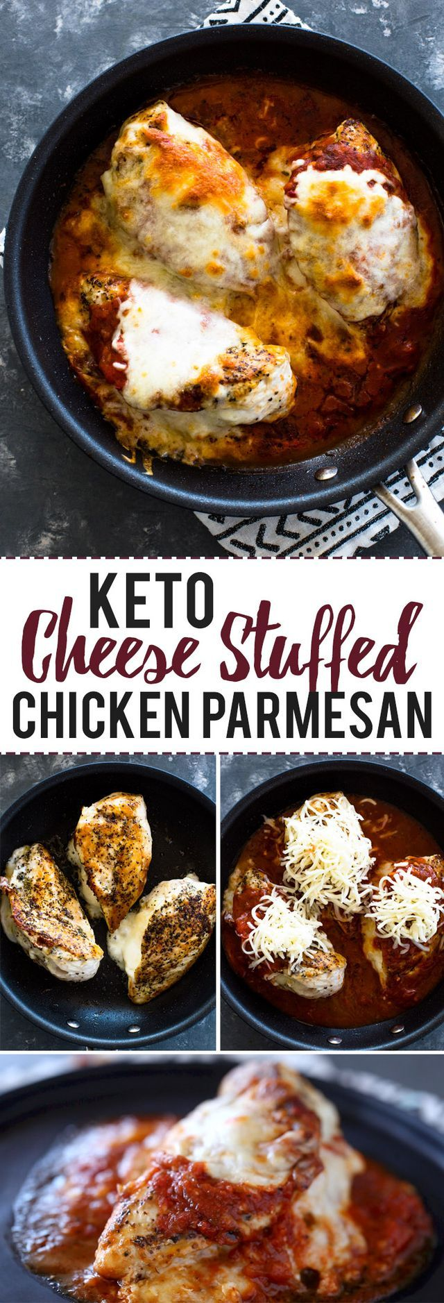 Keto Stuffed Chicken Parmesan (Gimme Delicious)