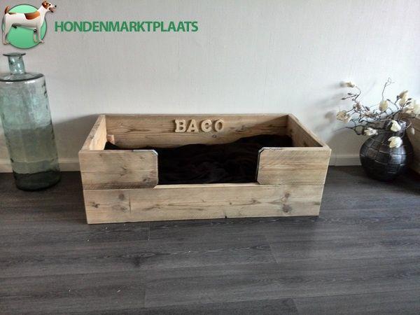 steigerhout hondenmand maken