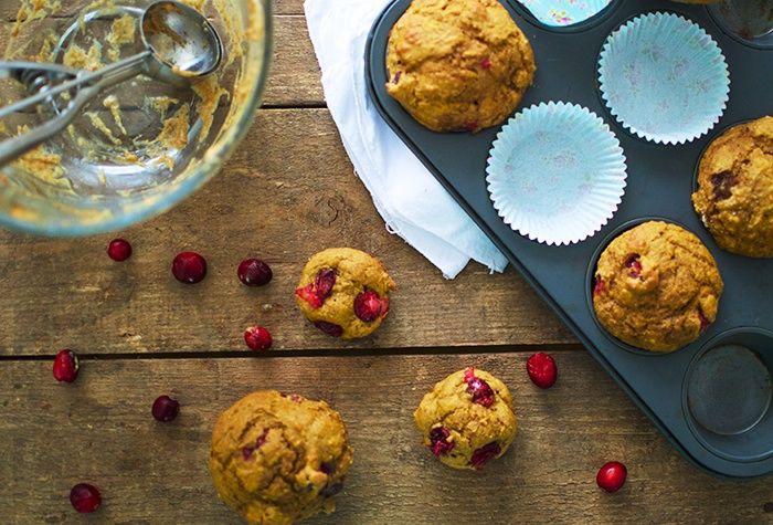 muffin citrouille et canneberge