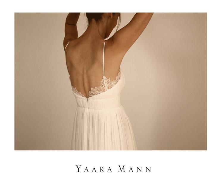 """Athena"" wedding dress from Yaara Mann's collection 2014, 100% silk www.yaaramann.com"