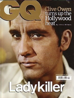#GQ #Magazine(UK)- April 2009 - Clive Owen cover #film #mens
