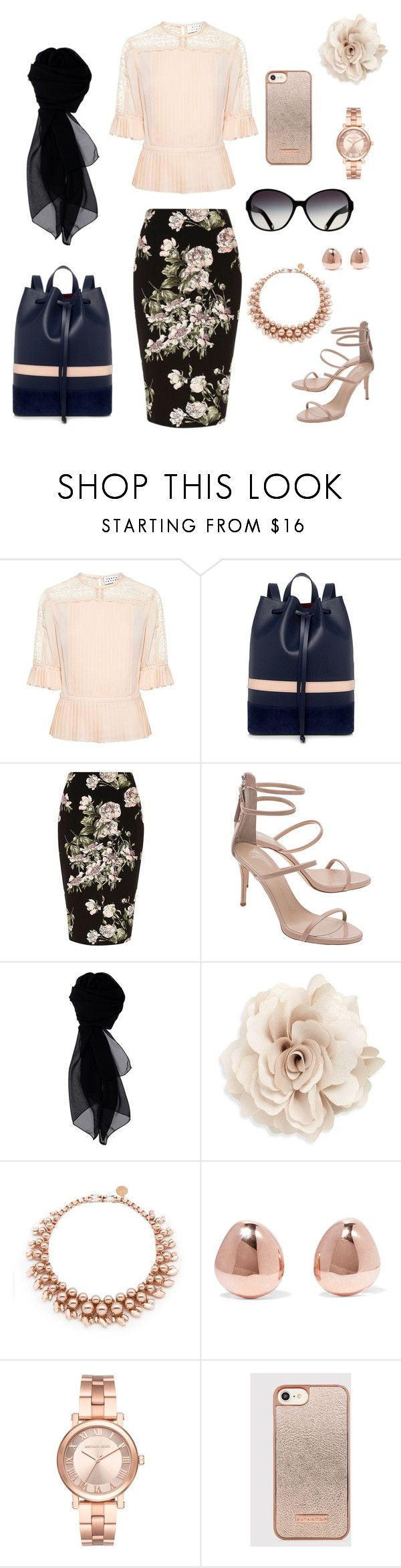 """""""P. G. # 45"""" by patricia-gonzalez-1 ❤ liked on Polyvore featuring Tanya Taylor, Mother of Pearl, River Island, Giuseppe Zanotti, KOCCA, Cara, Ellen Conde, Monica Vinader and Michael Kors"""