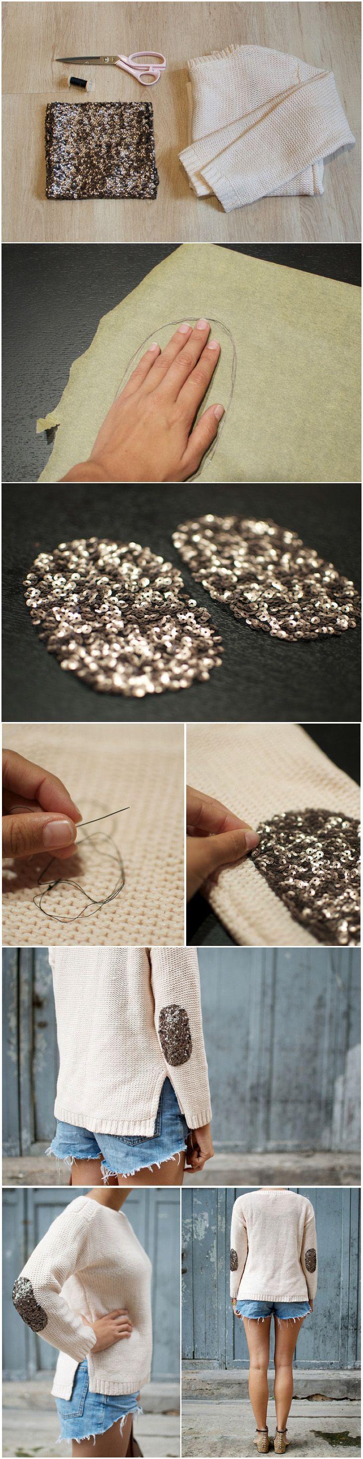 Deux tutos simples pour transformer votre pull basique en pull chic! Pas besoin de machine à coudre pour ce projet qui fera bien des envieuses!
