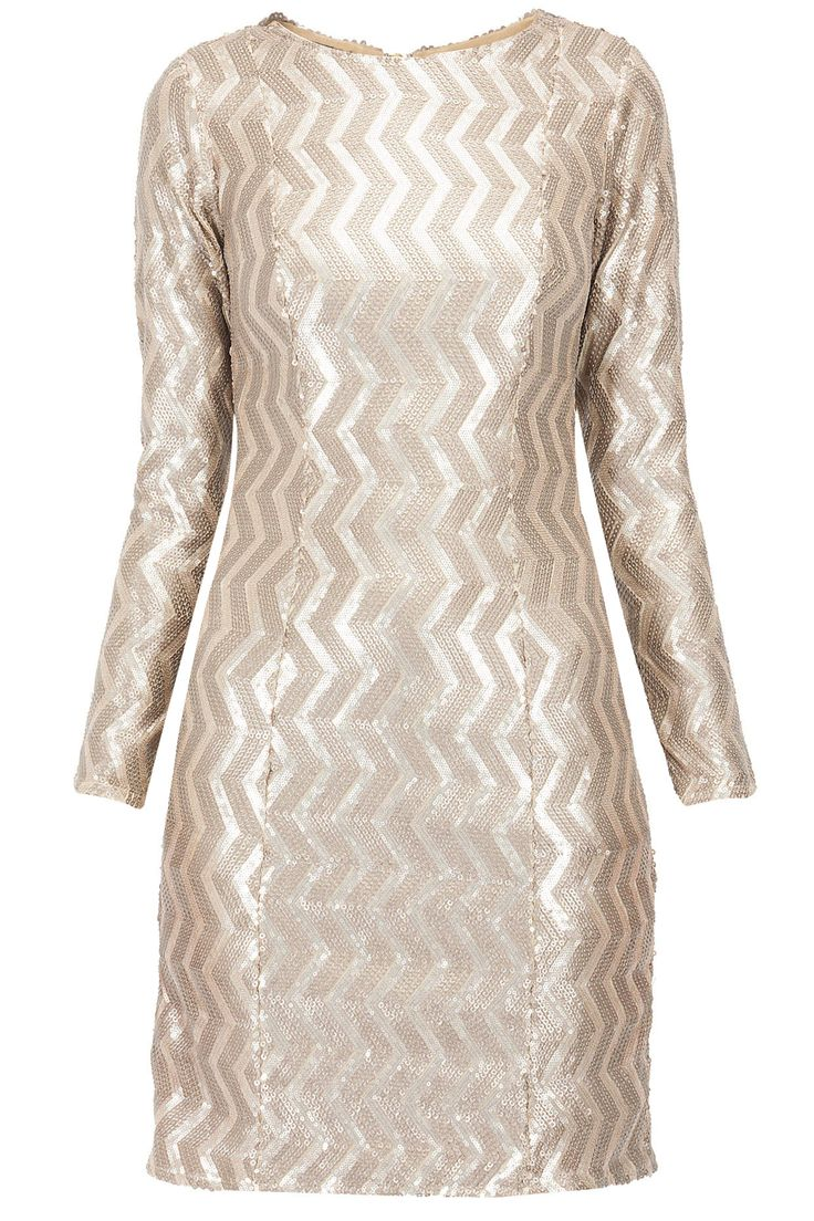 £ 108 Champagne gold leather sequined dress available only at Pernia's Pop-Up Shop.