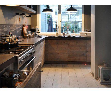 Landelijke keuken steigerhout | Steigerhouttuinmeubels.nl