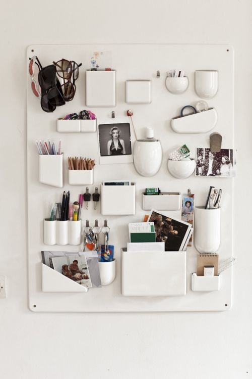 #Vitra Uten.Silo wall system turns organized office supplies into display; Design by Dorothee Becker and Ingo Maurer (1969)