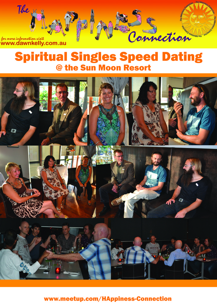 Spiritual Speed Dating at the HAppiness Connection. Sun Moon Boutique Resort, Scarborough, Perth, Western Australia