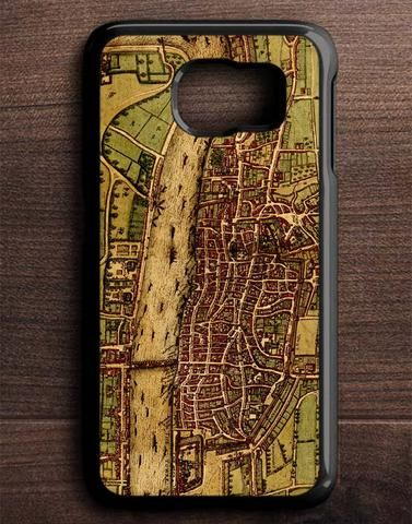 Vintage Old Map Of London In 1572 Samsung Galaxy S6 Edge Case