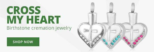 Cross My Heart Cremation Jewelry