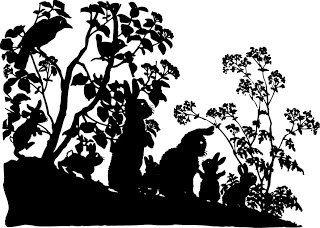 Silhouette Vintage Woodland Cross Stitch Pattern by lisalskinner, $3.75
