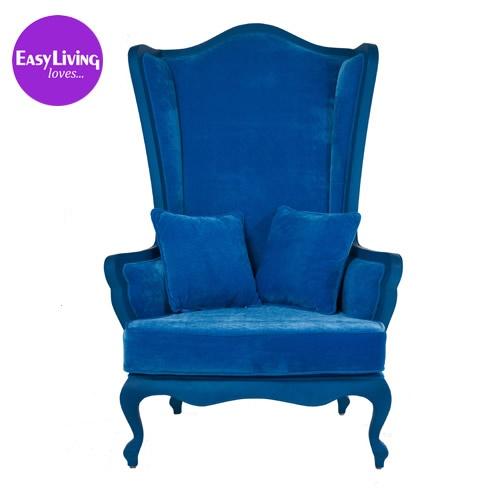 Wonderland Blue Velvet Armchair - The French Bedroom Company