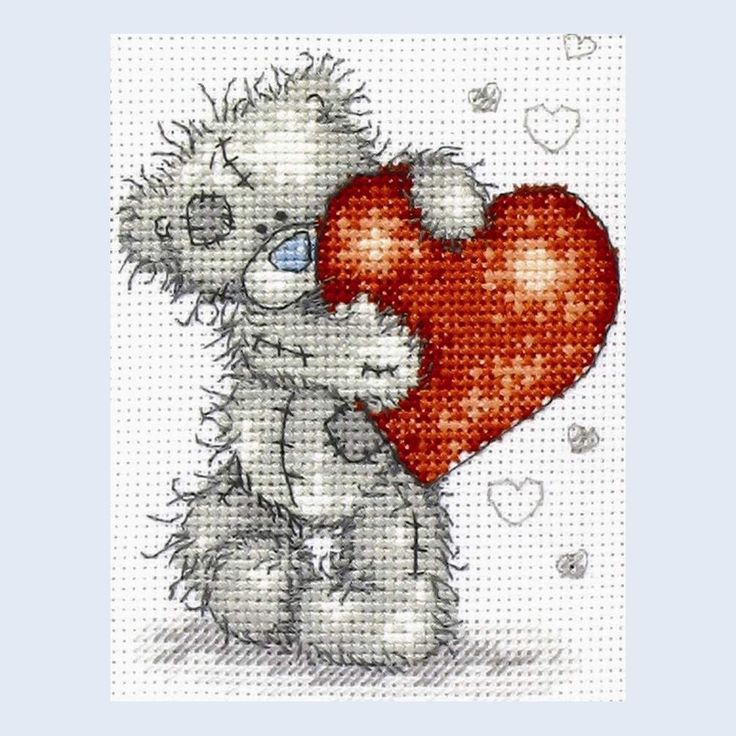 Hearts - Me To You - Tatty Teddy - counted cross stitch kit Coats Crafts