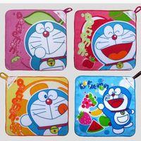 6 stück 25cm kleine kawaii süsse karikaturkatze drucken japan anime doraemon handtuch für Kind Küche neuheit Haushalte toalha de banho