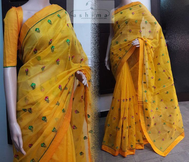 Code:2107176 - Price INR:1390/- , Embroidered Kota Saree.