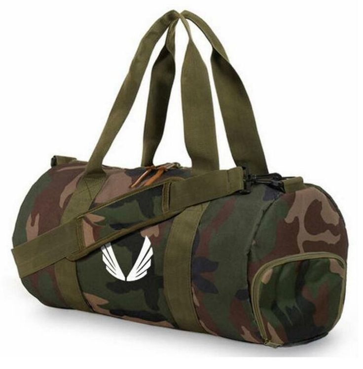 Barrel Travel Camouflage Sport Bag Unisex Gym Bag Yoga Duffel Bag Canvas