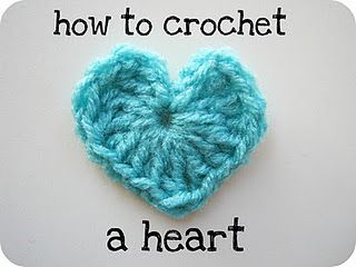Make a Little Crochet Heart like this one for some homemade Valentine
