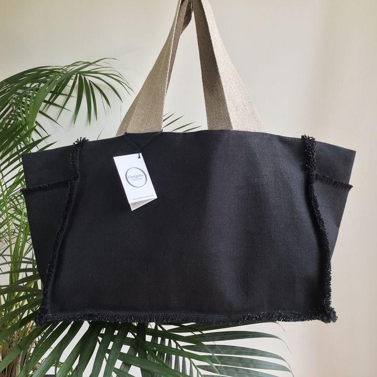 Piel Leather 20Dans Duffel Bag avec poches, Noir, Taille