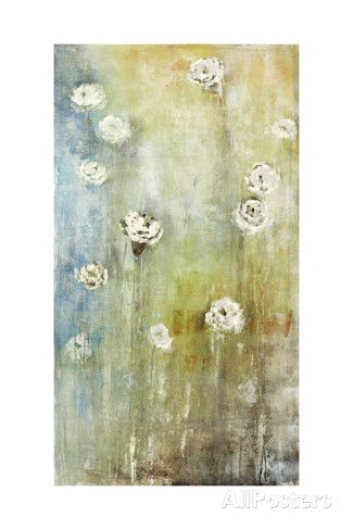 Floral Blues 2 Art Print