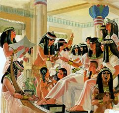 The Egyptians ate many different things. They also ate well. Even the poorest people ate a healthy diet of fruits and vegetables. The rich ate meat of many kinds, mostly cows and sheep.