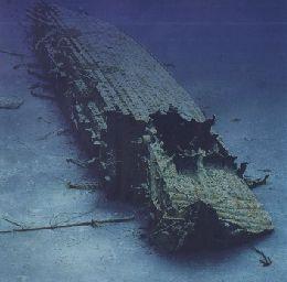 Britannic's wreck.