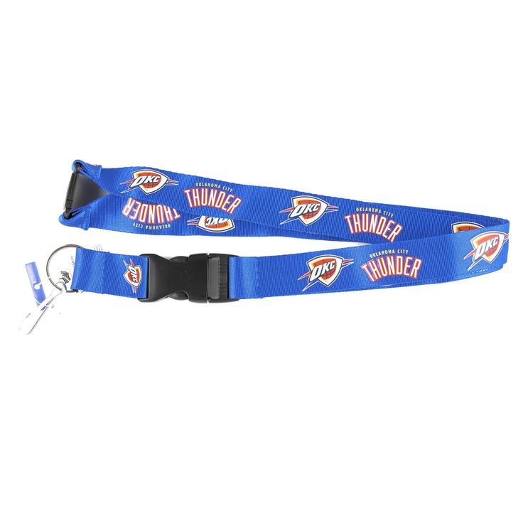 Aminco International Oklahoma City Thunder NBA Clip Lanyard Keychain Id Holder