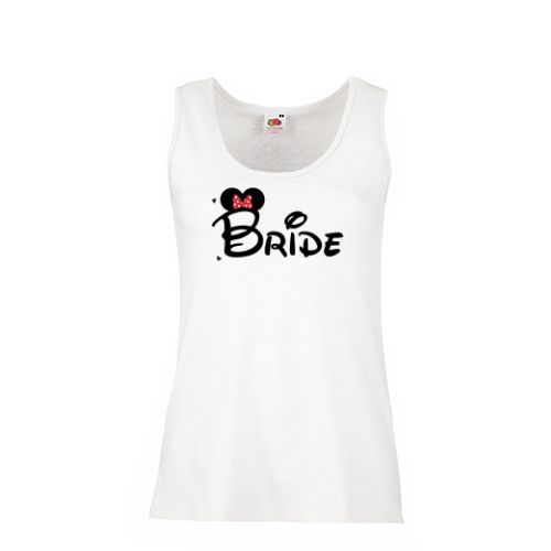 Tricou personalizat sau maieu pentru viitoarea mireasa, cu mesajul Bride si…