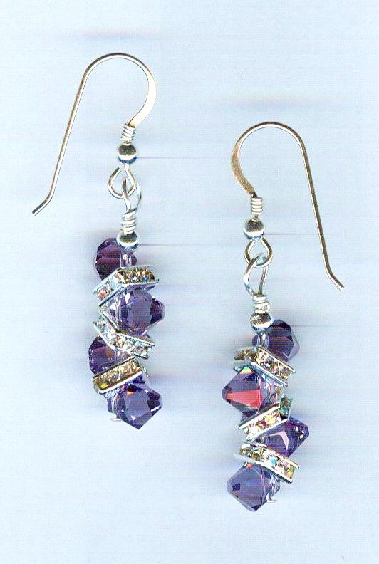 Beaded Earrings Designed with Swarovski Crystals by Bead Wizardry Designs