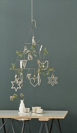 Hanging frame from Plümo Ltd ... Such a clever idea if you're short on space but still want to make your home festive