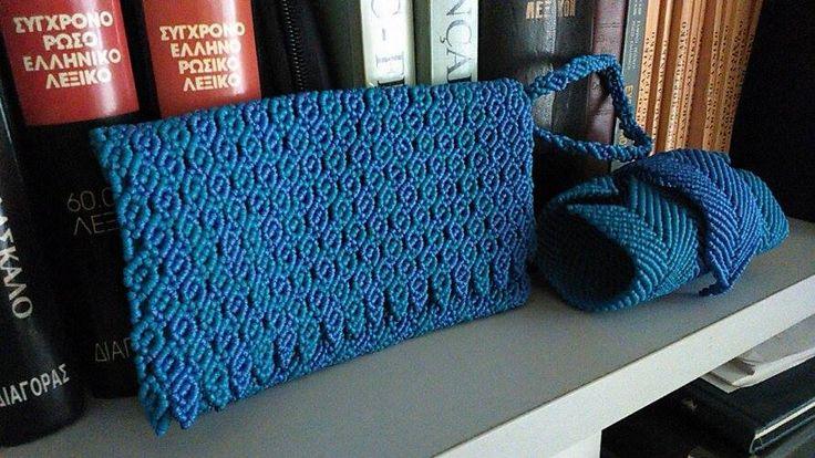 https://www.facebook.com/jukocreations/ Handbags : Handcrafted macrame pochette envelope