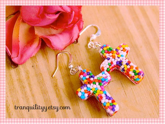 Sweet Blessings Real Candy Sprinkle Earrings By by tranquilityy