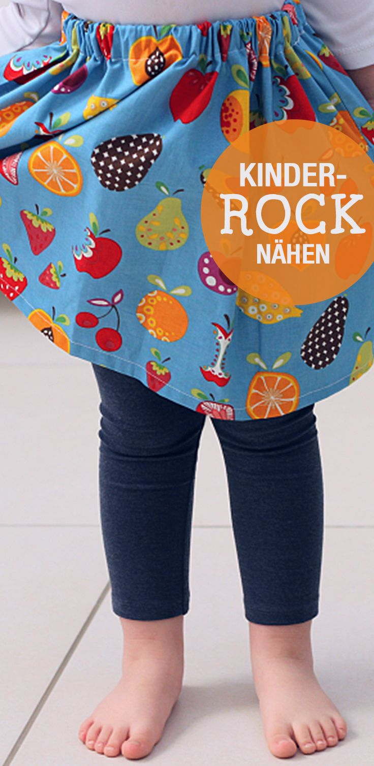 DIY-Nähanleitung: Rock für Kinder nähen, Kinderkleidung nähen / diy sewing tutorial: sew a skirt for children, diy inspiration via DaWanda.com