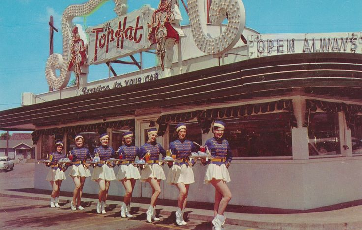 The Top Hat - Spokane, Washington. Spokane's most popular Drive Inn Restaurant, Located on U.S. Highway #10, 2101 E. Sprague. Always Open - Specializing in good food at moderate prices.