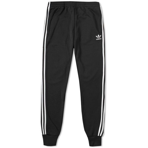 Adidas Superstar Track Pant ($70) ❤ liked on Polyvore featuring men's fashion, men's clothing, men's activewear and men's activewear pants