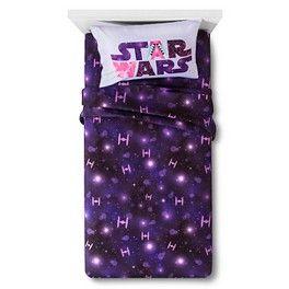Star Wars® Classic Girl Tie Fighter Sheet Set Twin - Purple
