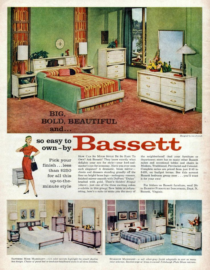 860 best designs from the past images on pinterest - Bassett bedroom furniture 1970 s ...