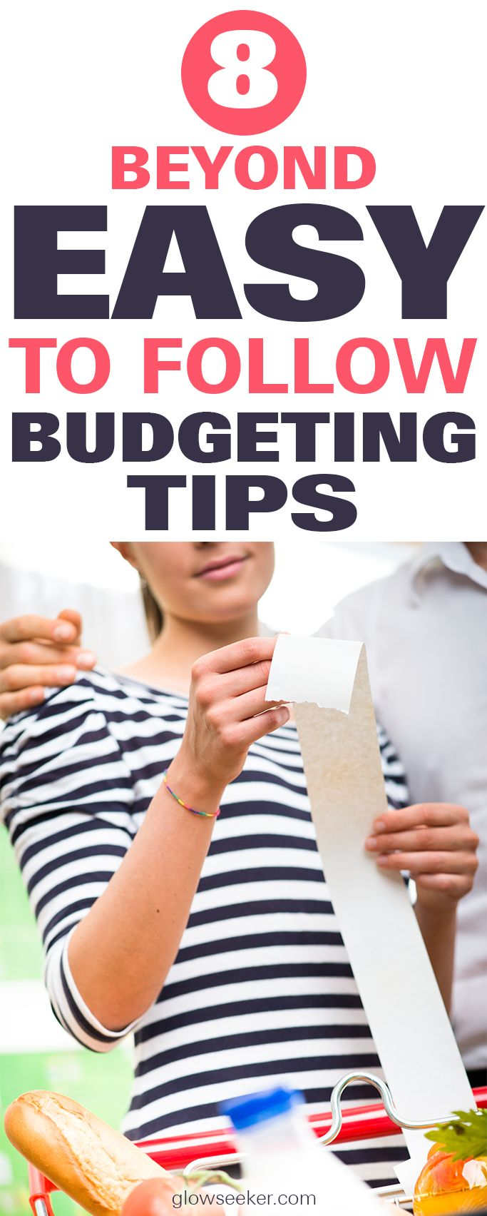 Frugal living made effortless with these 8 beyond easy to follow budgeting tips for beginners. If saving money and becoming debt free are your goals, then you're in the right place! #savingmoney #frugalliving #forbeginners #debtfree