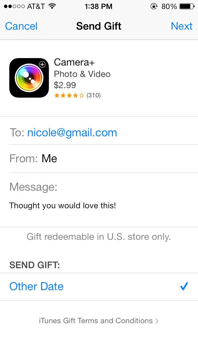 Pin for Later: The 1 Trick That'll Save You When You Have Nothing to Give Someone   Sign in with your Apple ID. Type the email address of the person you want to send the item to. Add a message (optional).