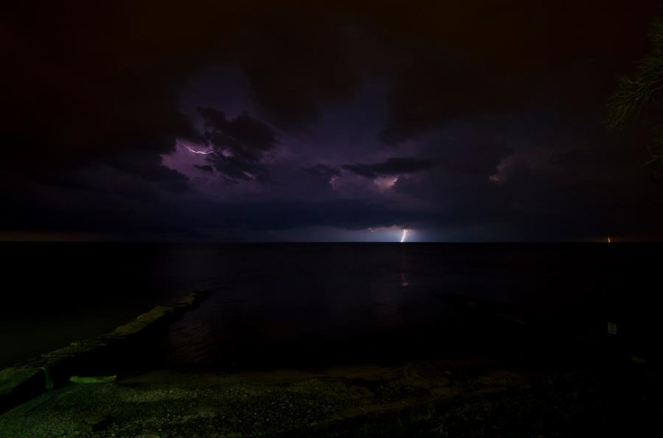 3/16/12 - Lightning off of Lake Erie.  Submitted by viewer Michael W.