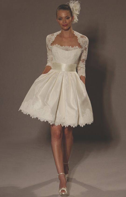 Strapless Ivory Mini Baby Doll Short Wedding Dresses