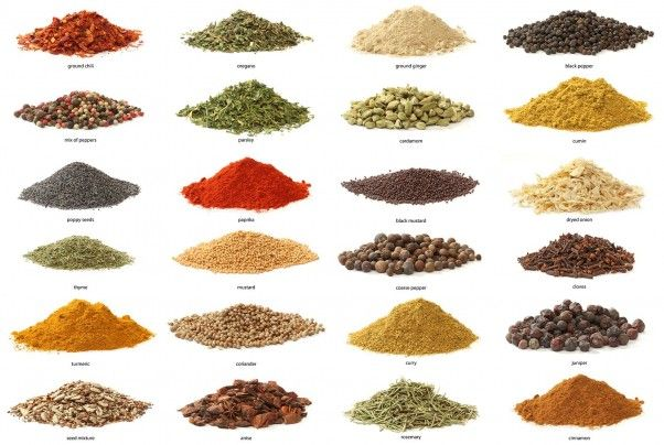 Health benefits of spices: cardamom, cayenne, cinnamon, cumin, ginger, black pepper and turmeric