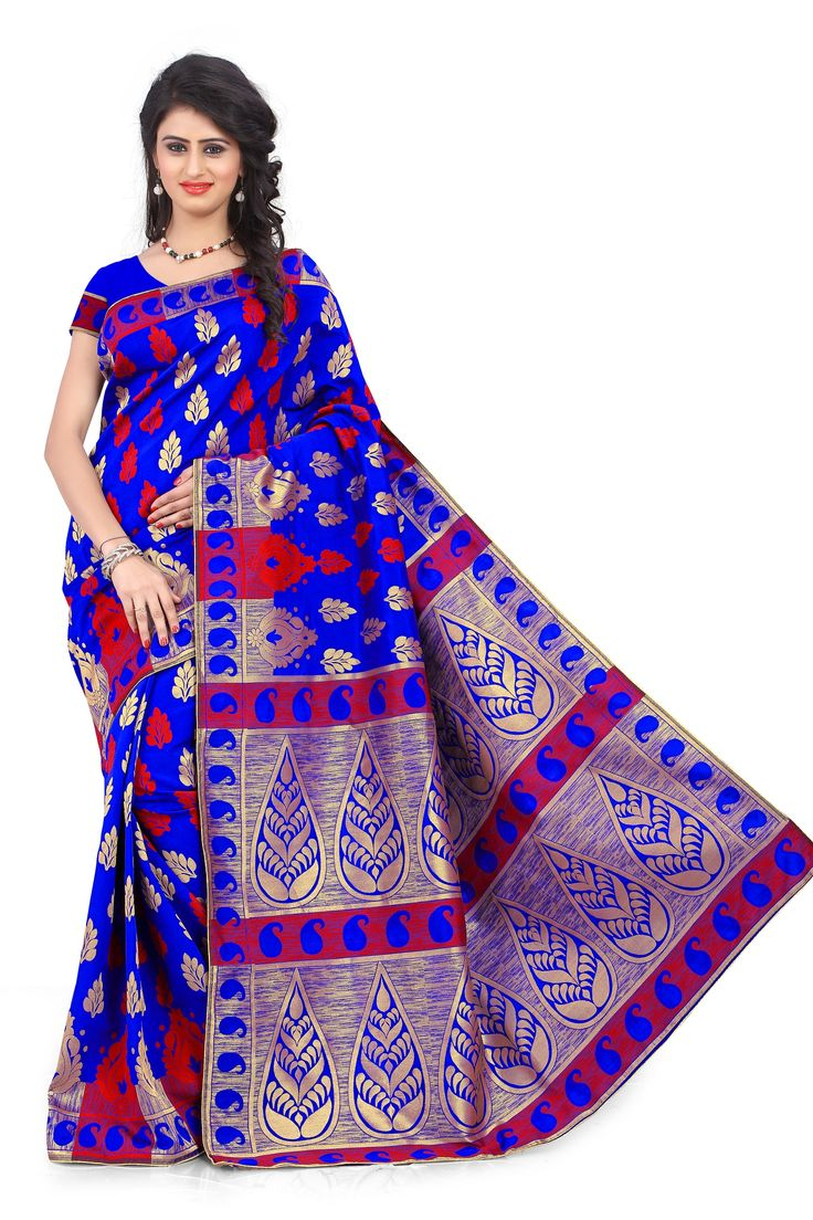 Purchase delightful Banarasi sarees for all occasions,traditional banarasi sarees, designer banarasi sarees at mirraw.com with international shipping, easy returns ,best quality