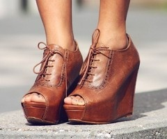 Shoes, Fashion, Cowboy Boots, Style, Clothing, Peep To, Toes, Heels, Oxfords Wedges