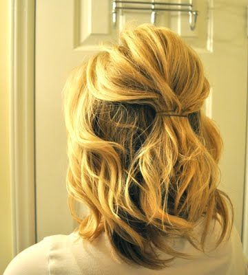 This is one of my favorite ways to style my hair, especially when it's styled curly to begin with.All you need is a few good bobby pins and hairspray!1. If your hair doesn't have any product in it,...