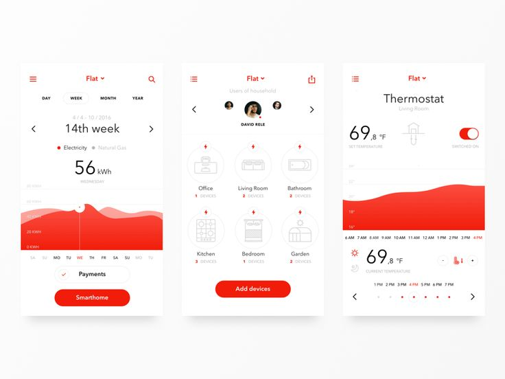 Hi dribbblers! I want to show you my older concept of app for smart controling your homes. I hope that you like it.