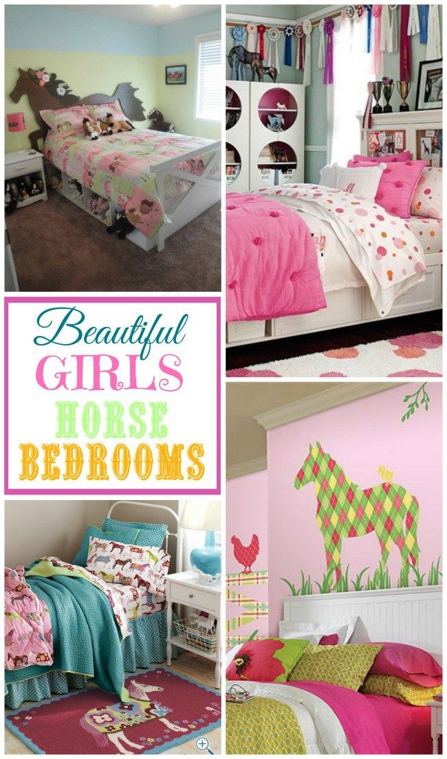 Beautiful girls horse bedrooms for those sweet little horse lovers