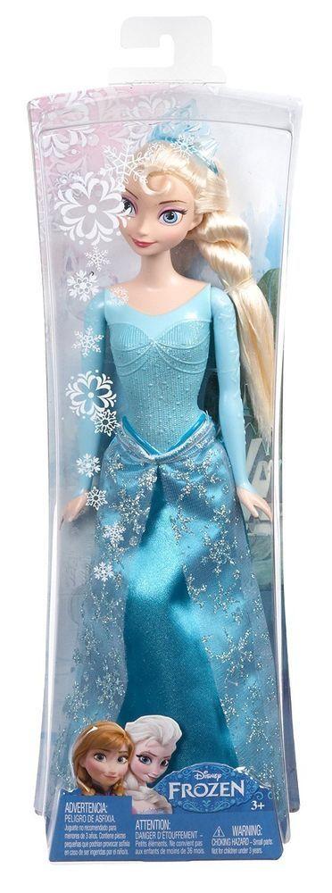 Frozen Disney Muñeca Elsa de Arendelle Con Purpurina Mattel CFB73-1 30 Centimetr