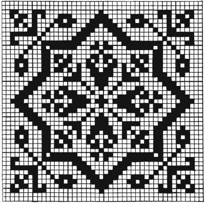 would work for square stitch or loom !