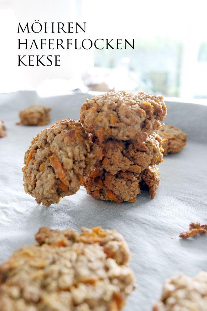 Möhren Haferflocken Kekse - gesunde Clean Eating Snacks mit vielen guten Zutaten.