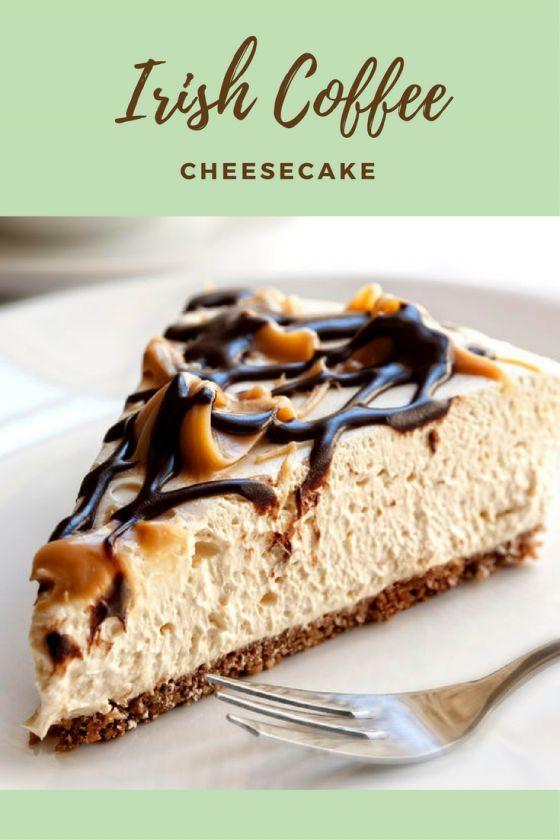 St. Patrick's Day dessert. Irish Coffee Cheesecake. Chocolate cookie crust, Irish creme cheesecake, and chocolate whiskey ganache.